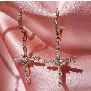 New 18k gold plated earrings
